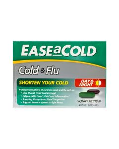 Ease-A-Cold Cold & Flu Day & Night Capsules 24's_front