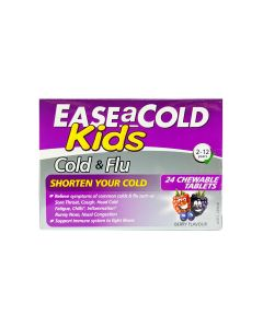 Ease-A-Cold Kids Cold & Flu Chewable Tablets 24's_front